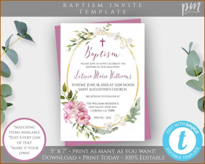 Christening Invite Template