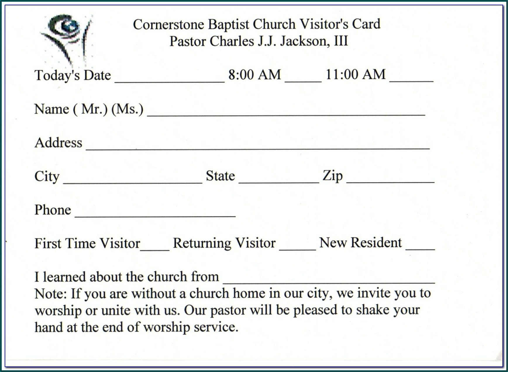 Church Brochure Templates Free Downloads