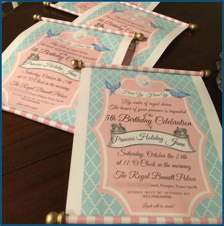 Cinderella Ball Invitation Template