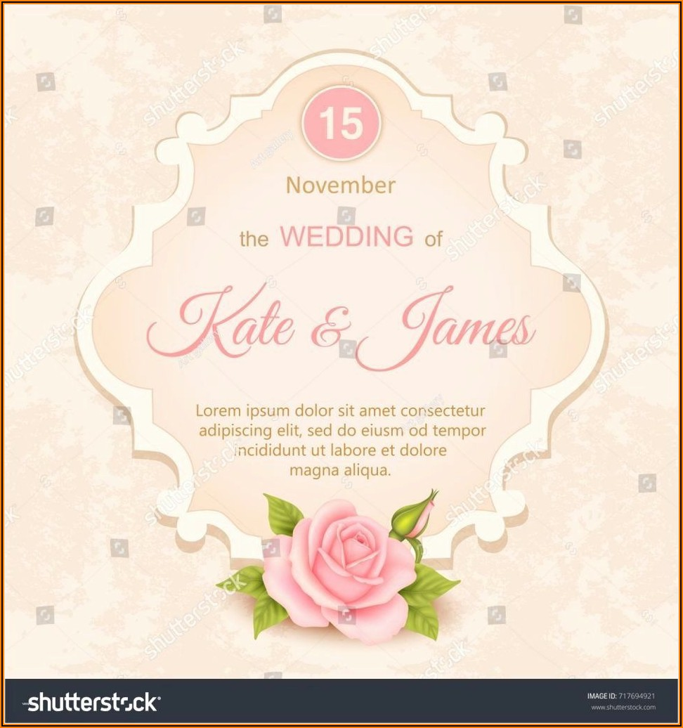 Cocktail Wedding Invitation Templates