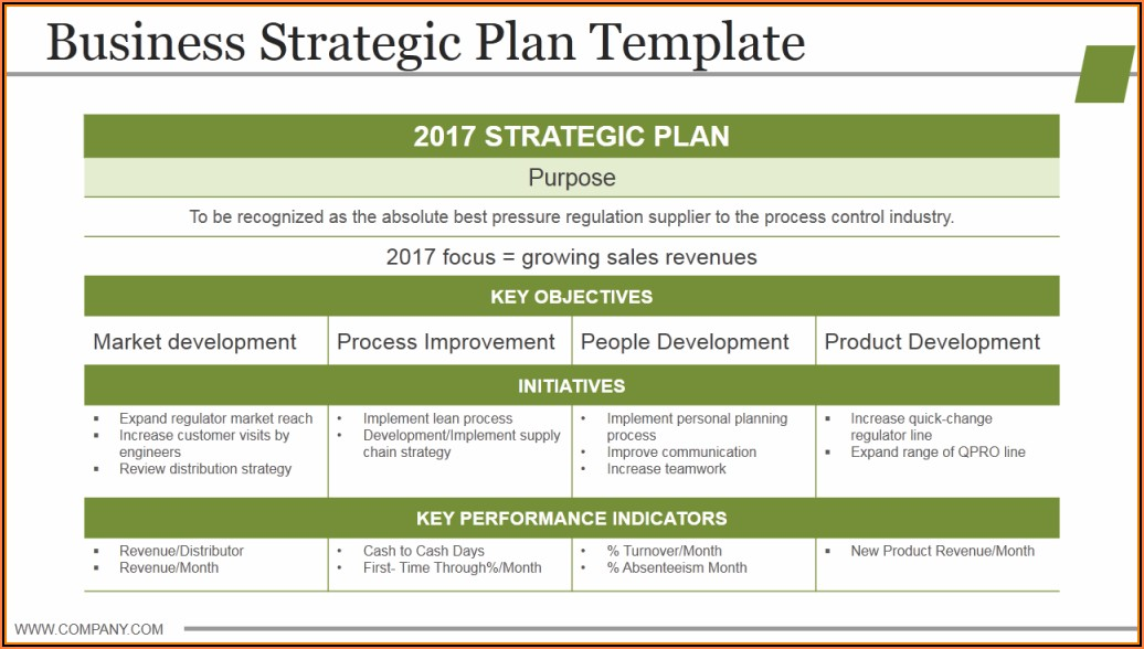 Company Strategic Plan Example