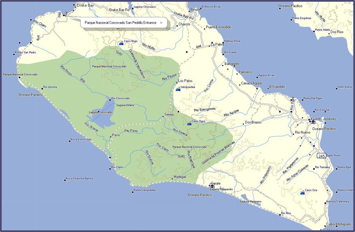 Costa Rica Gps Map