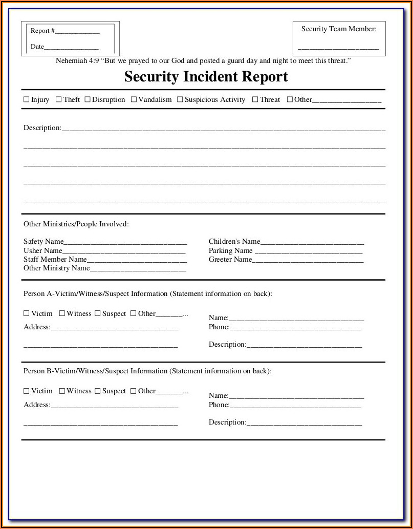 Cyber Security Incident Report Example