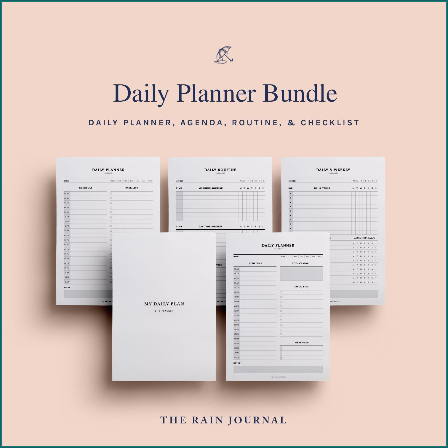 Daily Weekly Monthly Yearly Planner Template