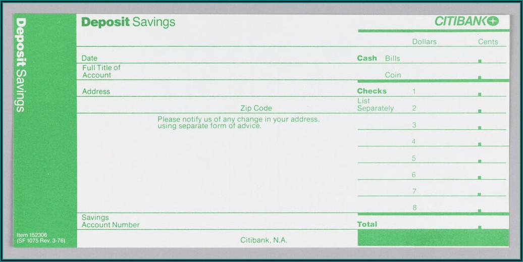 Deposit Slip Template Microsoft Word