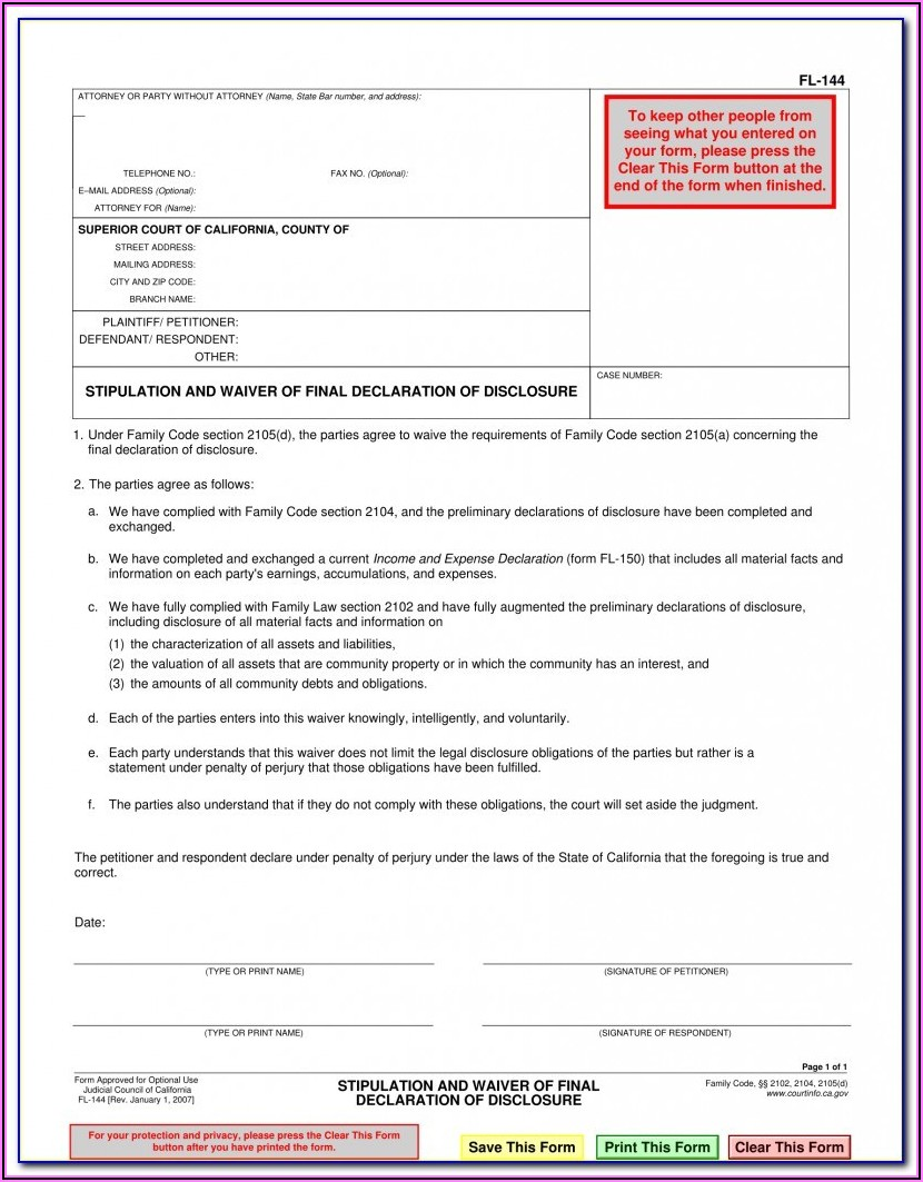 Divorce Waiver Form Oklahoma
