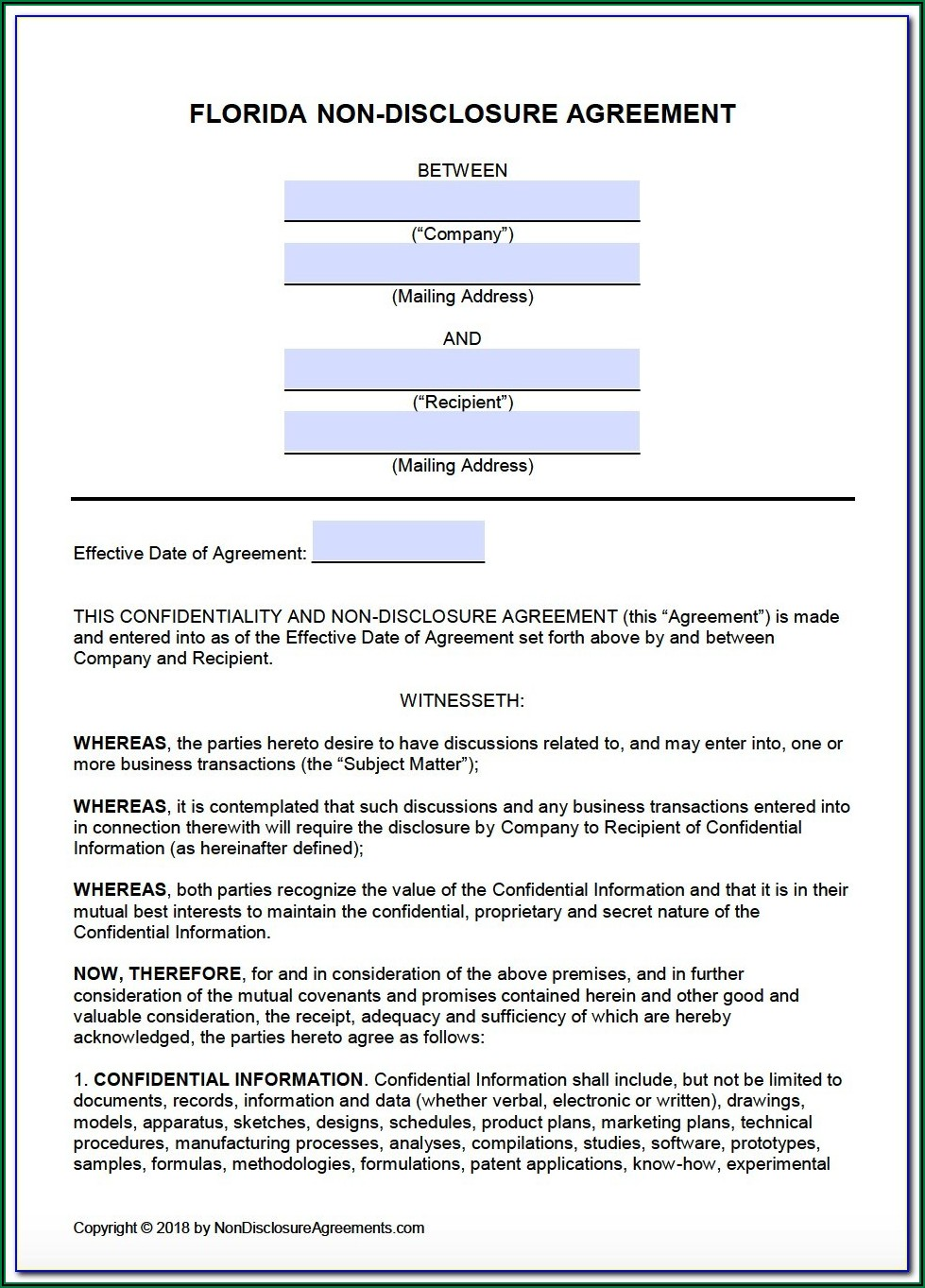 Dod Contractor Non Disclosure Agreement Form