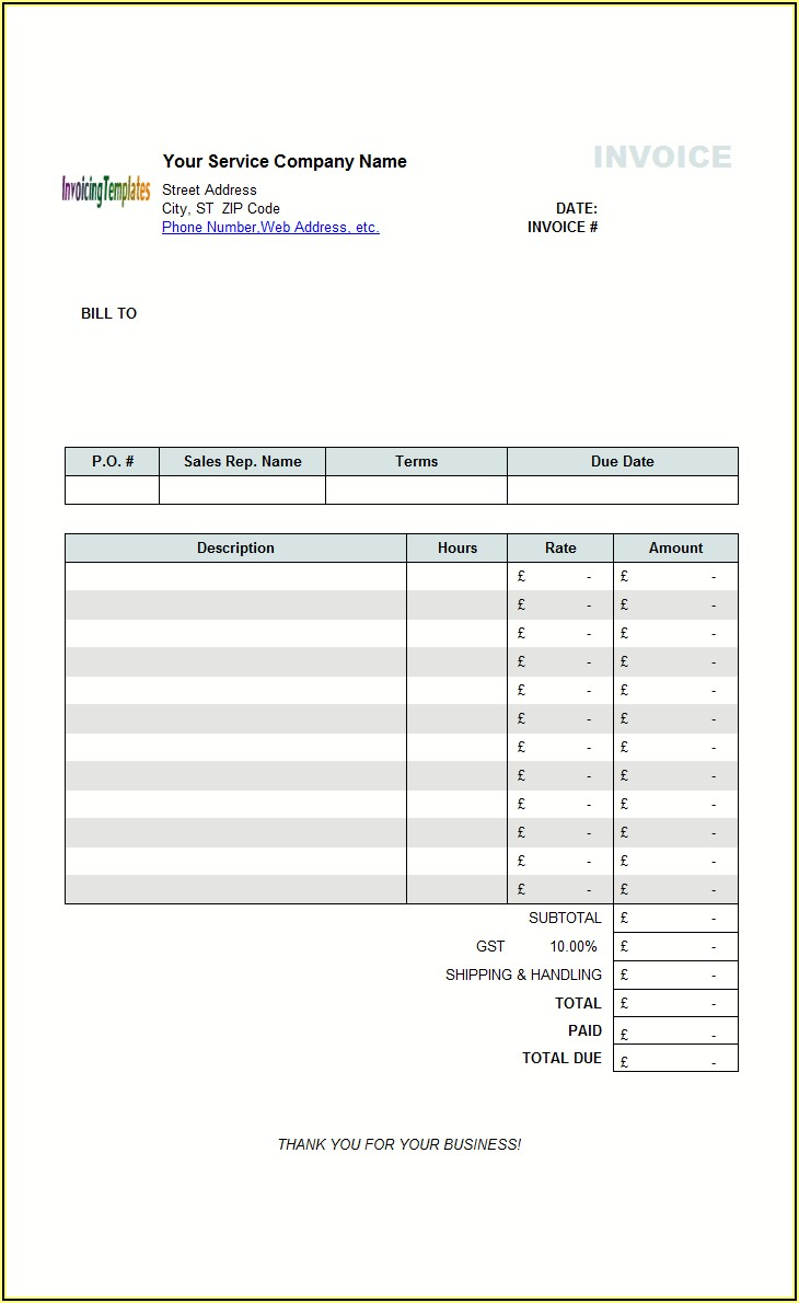 Download A Free Hourly Invoice Template