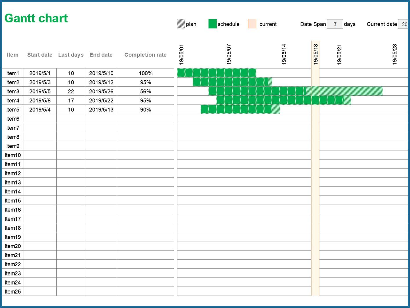 Download Gantt Chart Template Excel