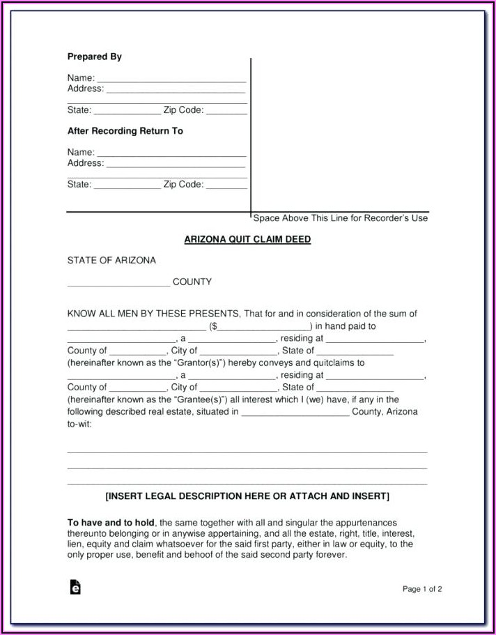 Download Quit Claim Deed Form