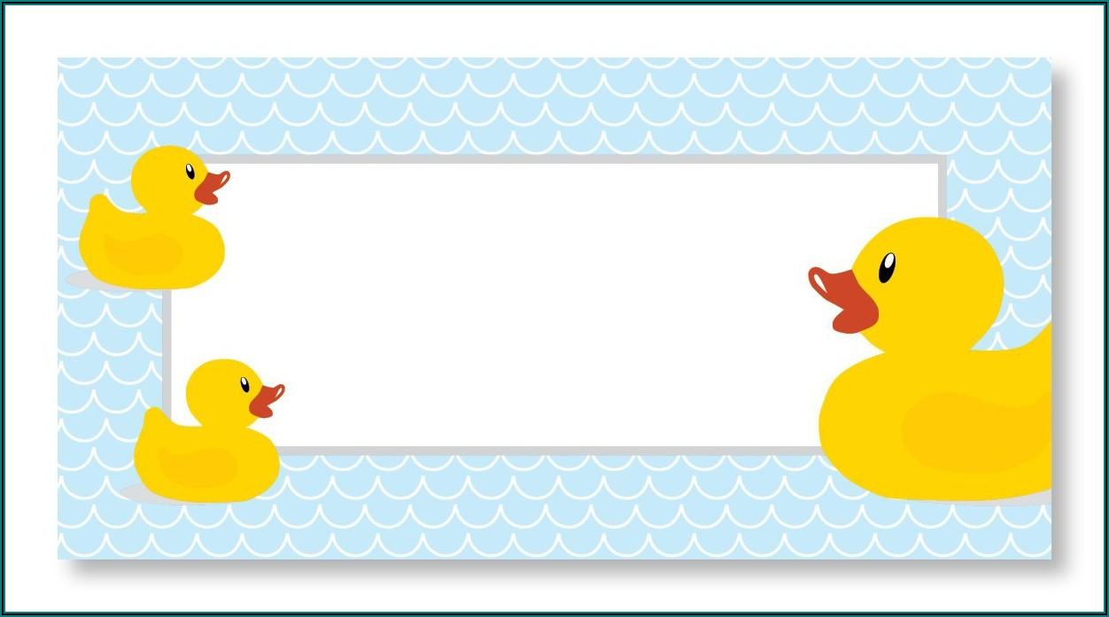Duck Baby Shower Invitation Templates