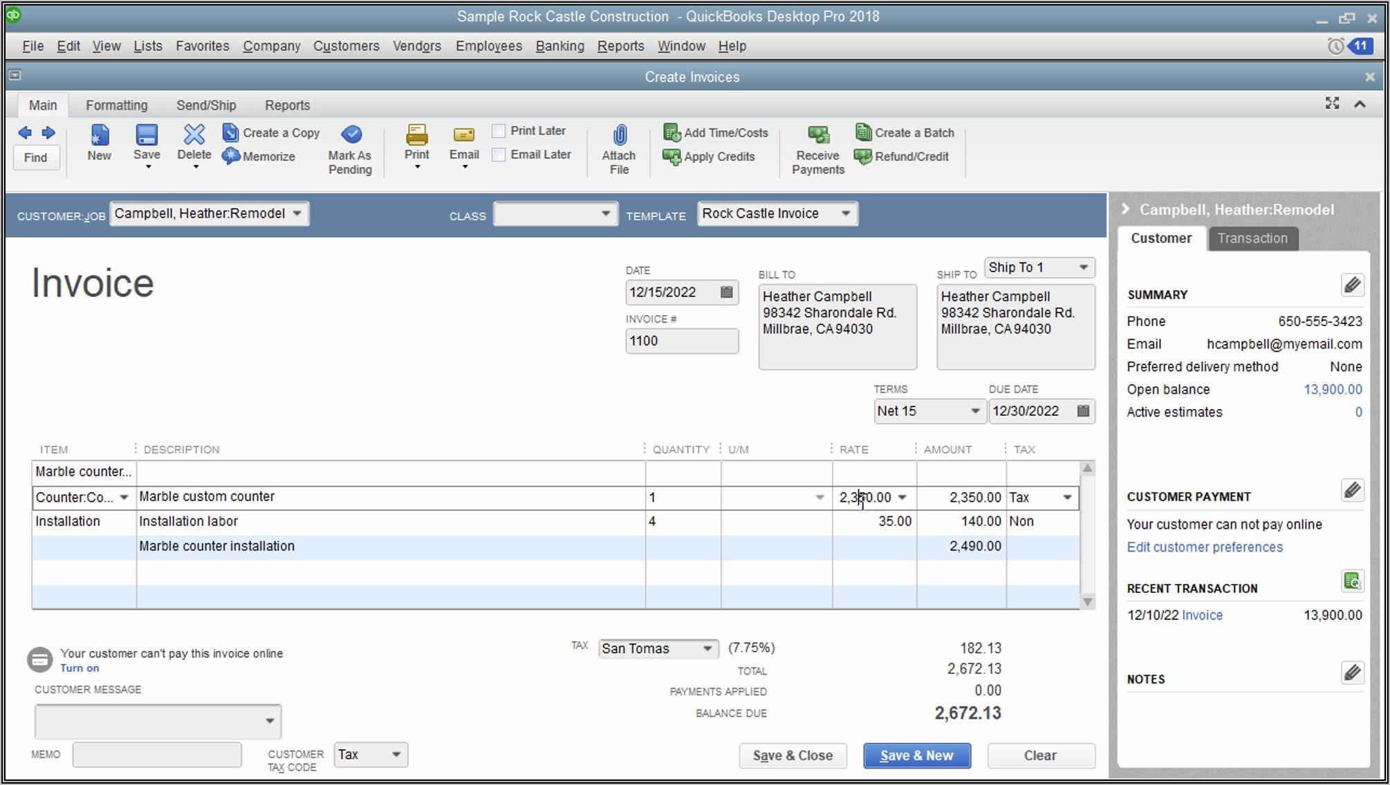 Edit Quickbooks Invoice Template