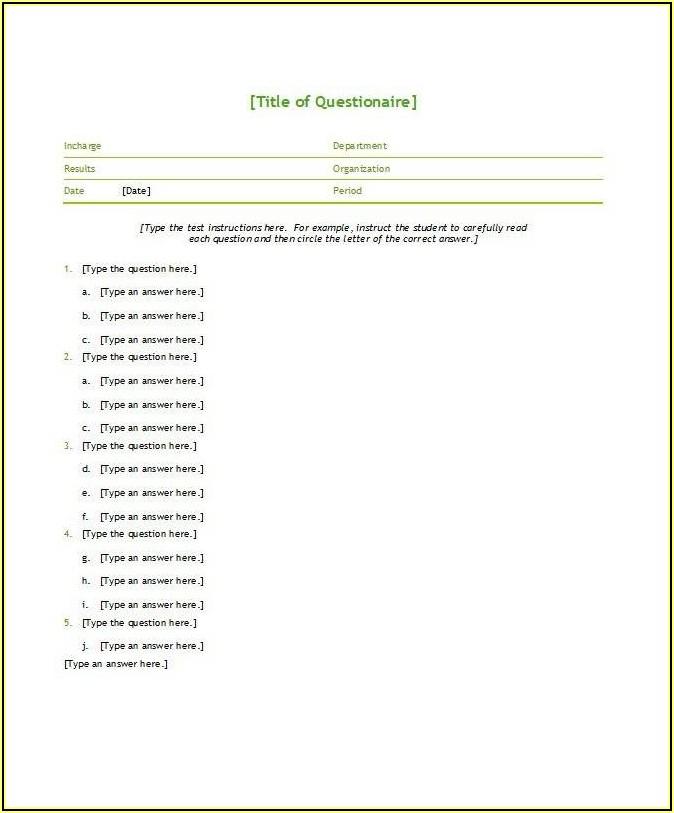 Editable Blank Invoice Template Word