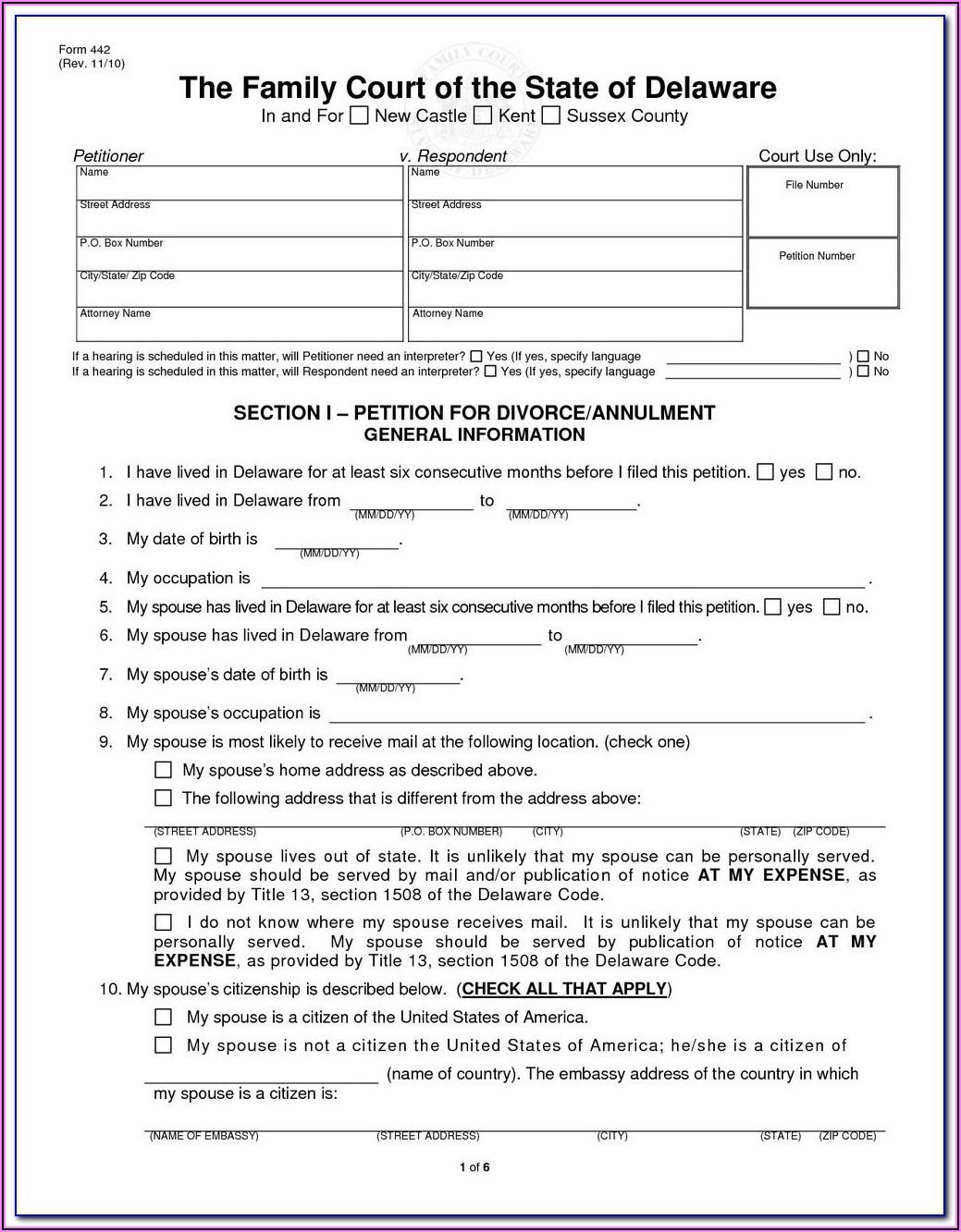 El Paso Divorce Forms