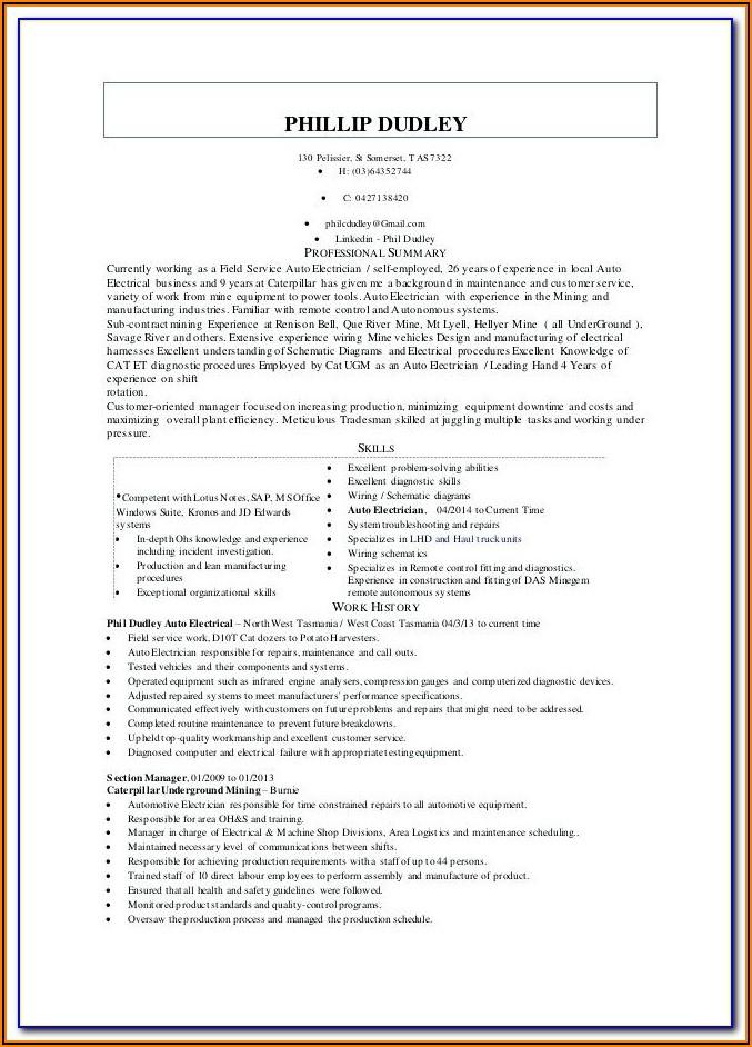 Electrical Engineering Internship Resume Template