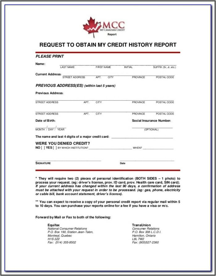 Equifax Experian Transunion Annual Credit Report Request Form