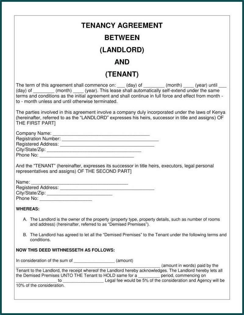 Eviction Notice Kenya Sample Pdf