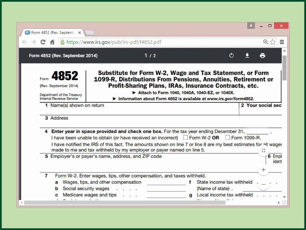 Federal Tax Form 1040a 2017