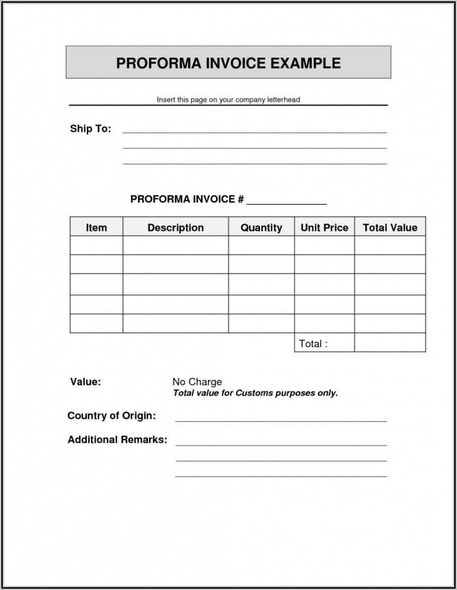 Fedex Proforma Invoice Template