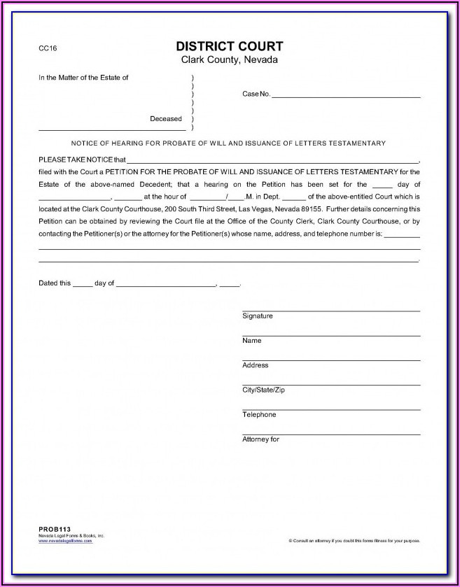 Florida Probate Forms Petition For Administration