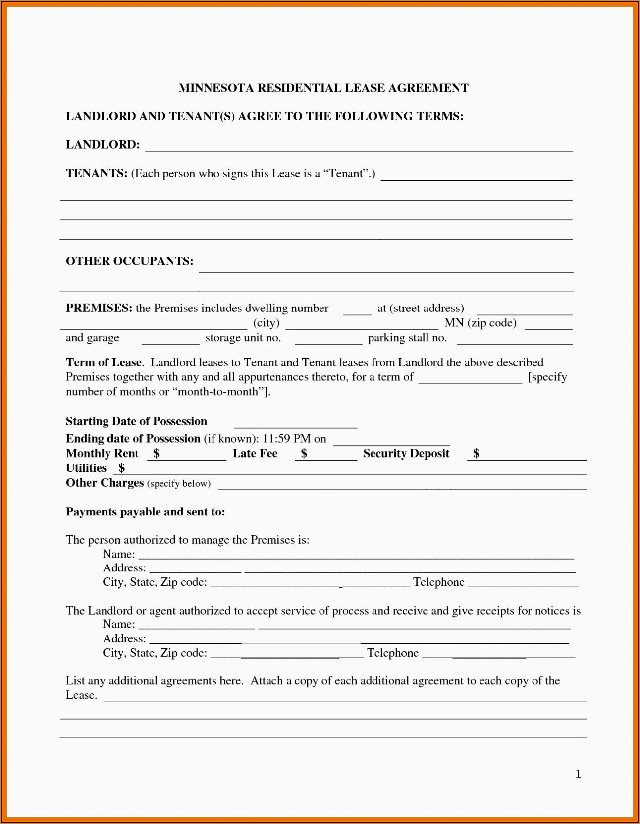 Food Truck Rental Agreement Template