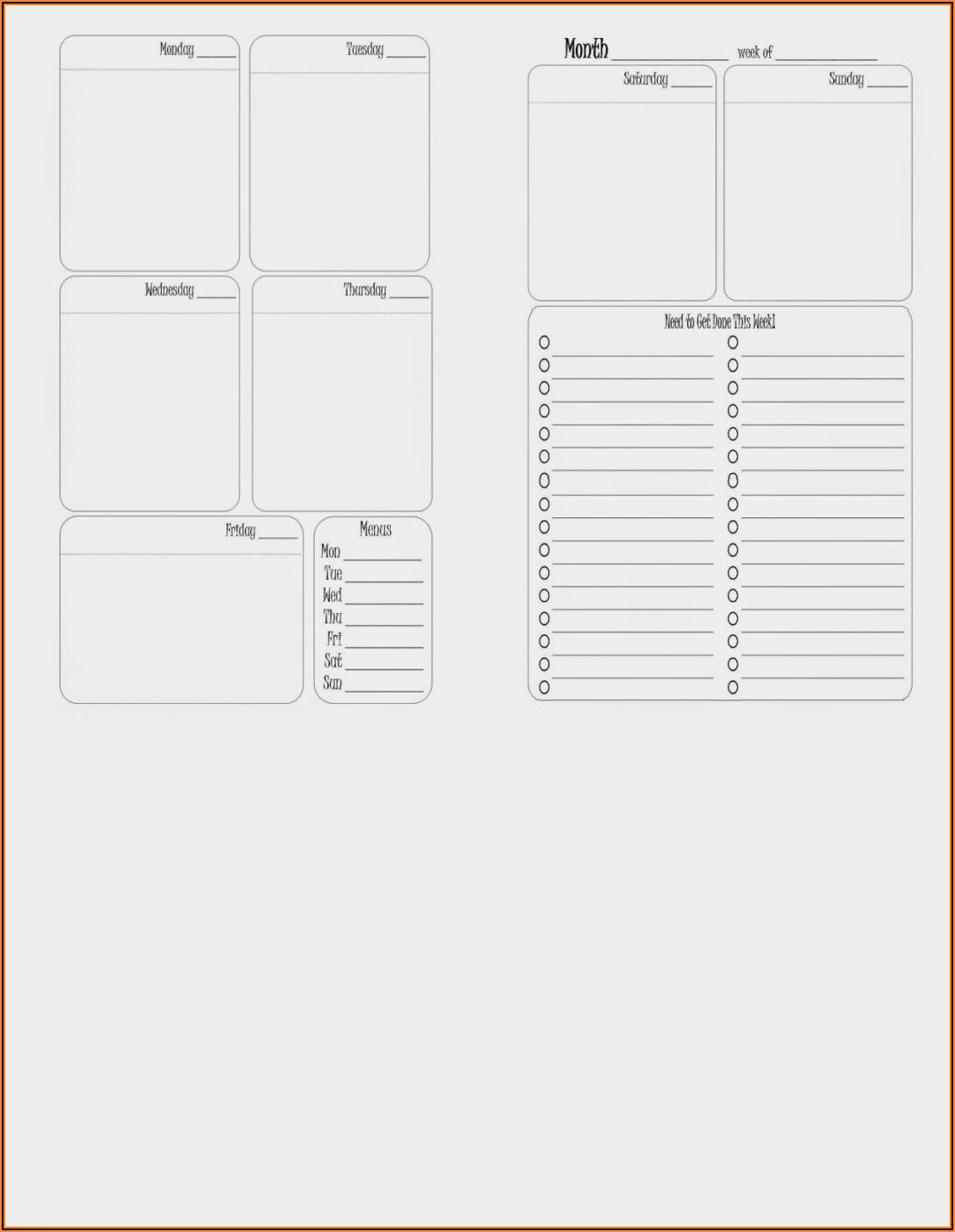 Franklin Covey Daily Planner Template