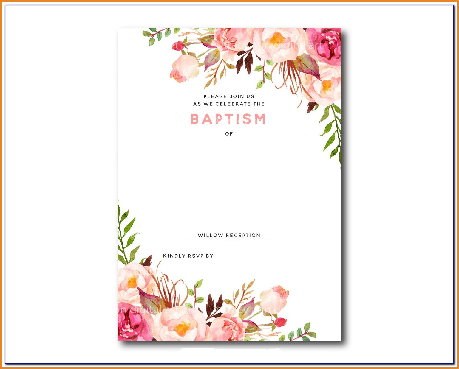 Free Baby Christening Certificate Template