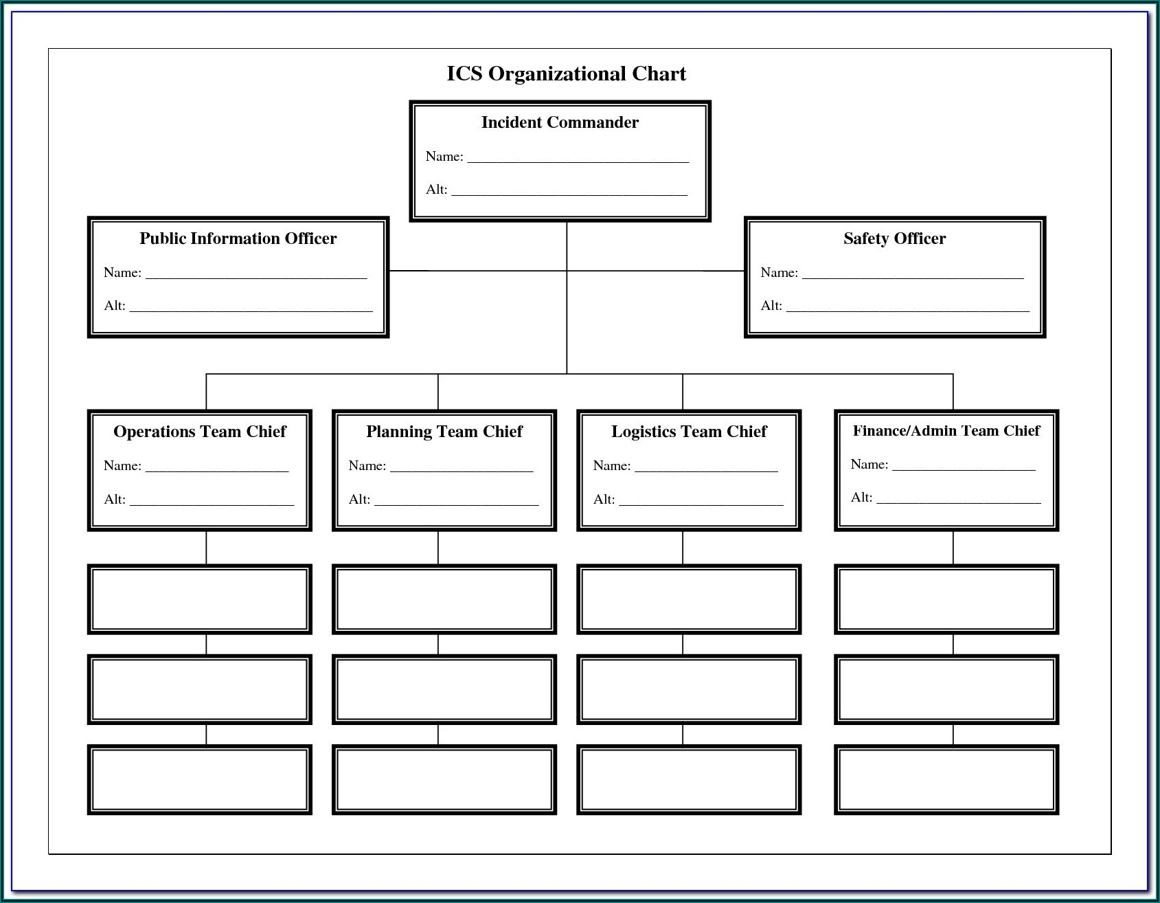 Free Blank Organizational Chart Template For Word