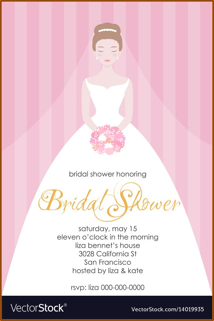 Free Bridal Shower Itinerary Template