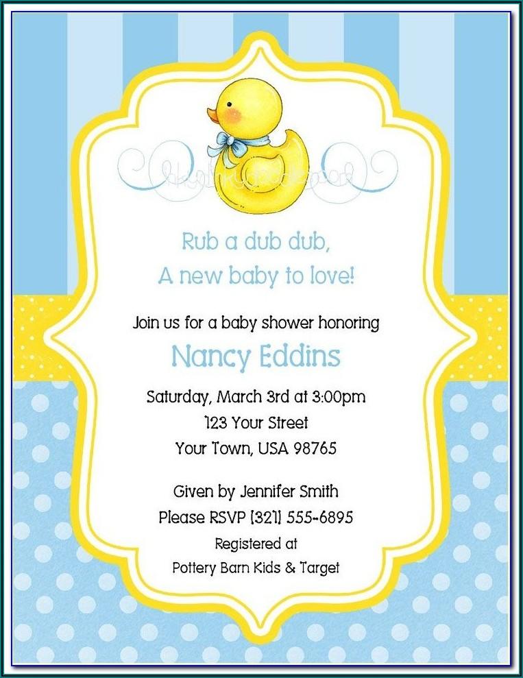 Free Duck Baby Shower Invitation Templates