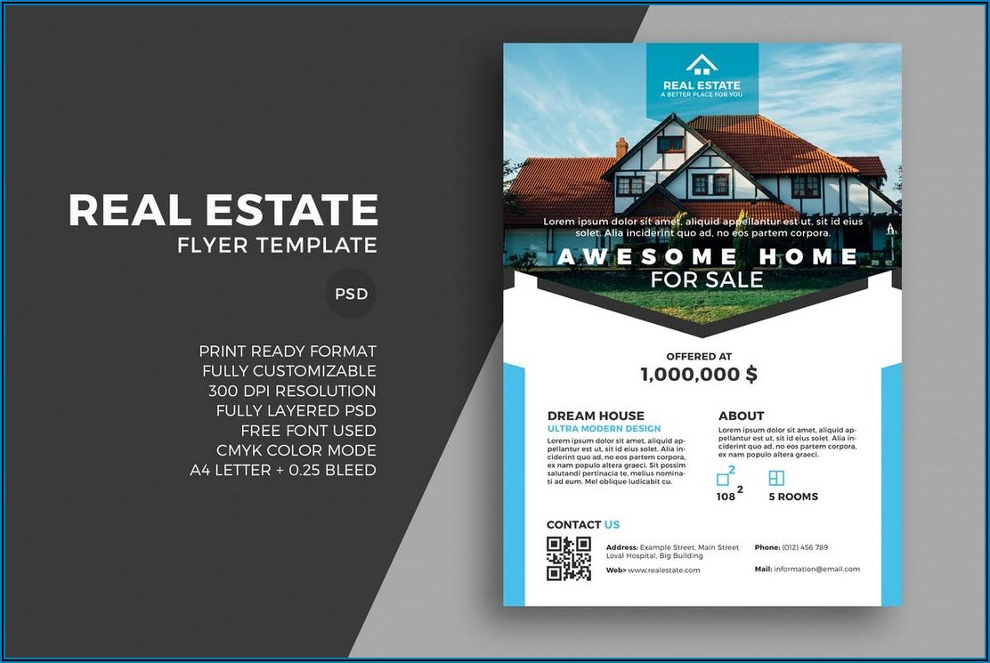 Free For Sale By Owner Real Estate Flyer Template