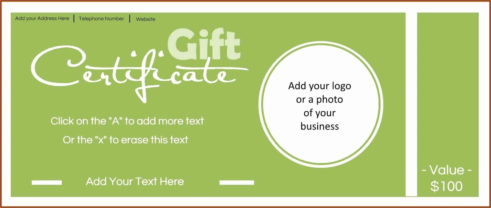 Free Gift Certificate Template With Logo