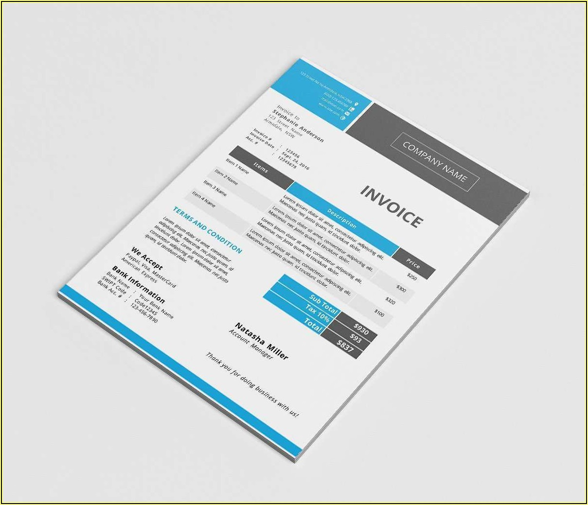 Free Invoice Template Docx