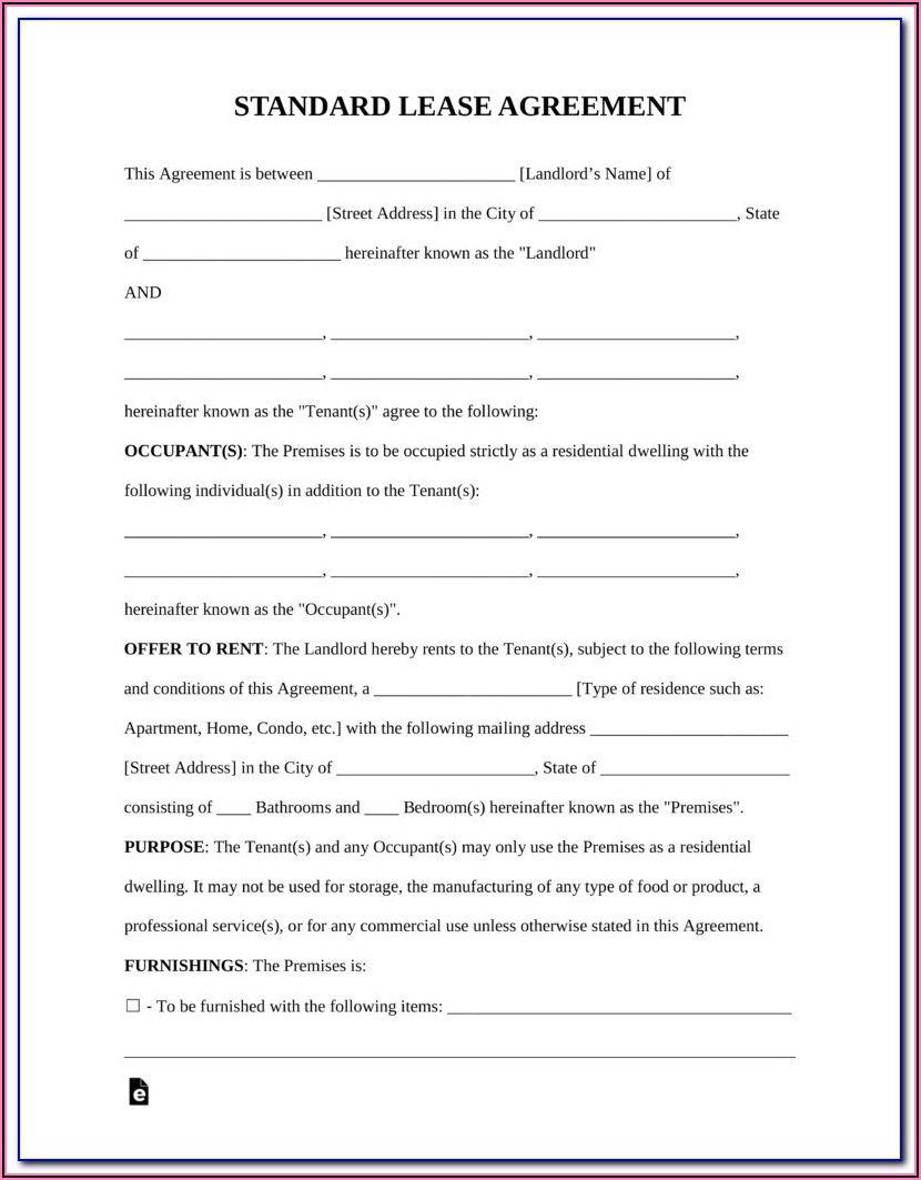 Free Maryland Residential Lease Agreement Form
