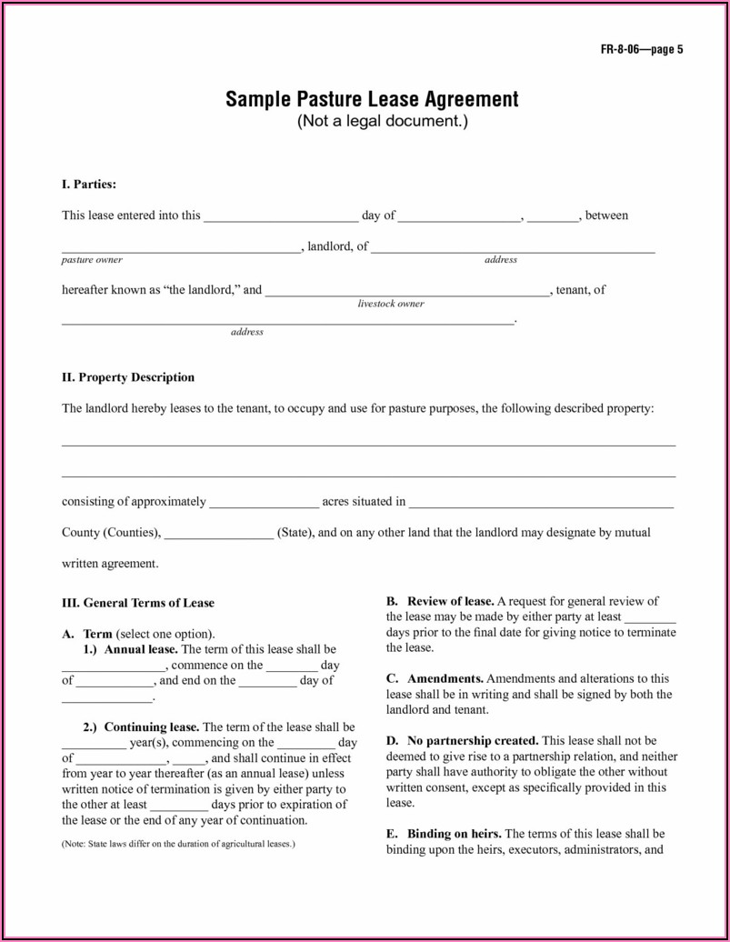 Free Month To Month Commercial Lease Agreement Form