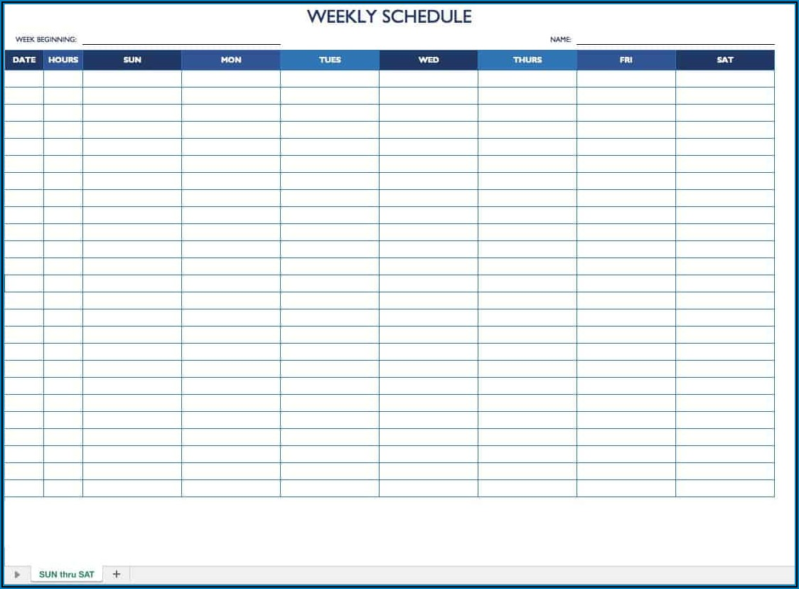 Free Monthly Employee Schedule Template
