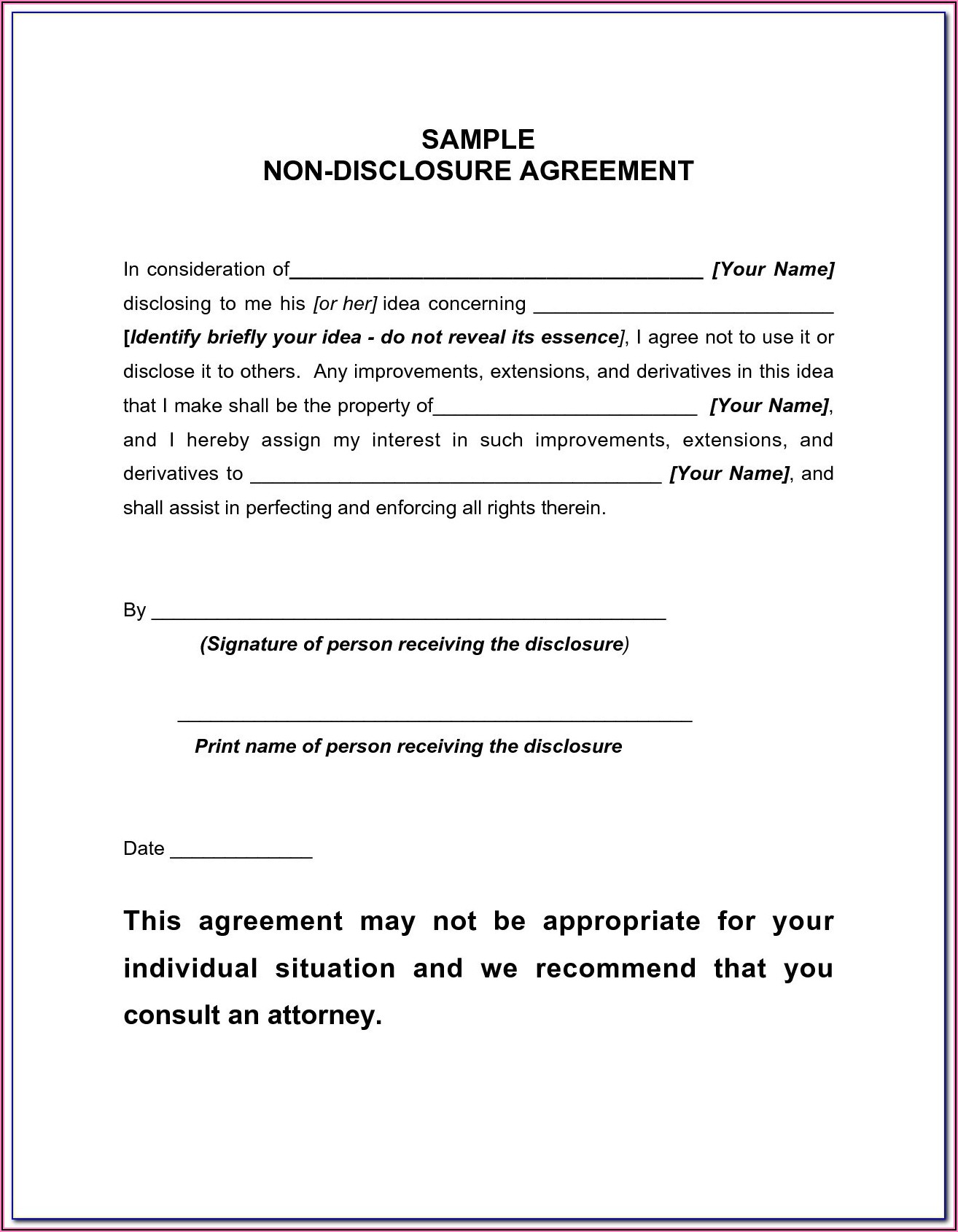 Free Printable Confidentiality Agreement Form Doc
