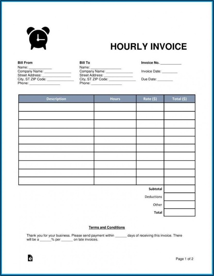 Free Printable Invoice Templates South Africa