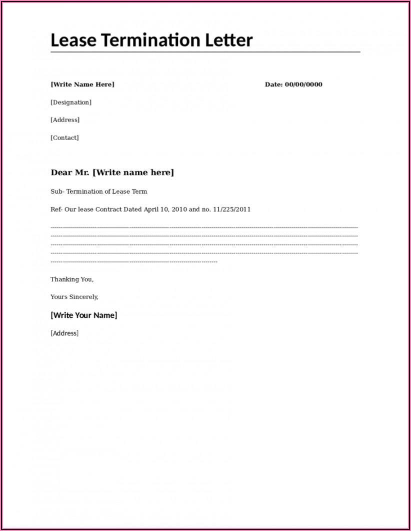 Free Printable Lease Termination Forms