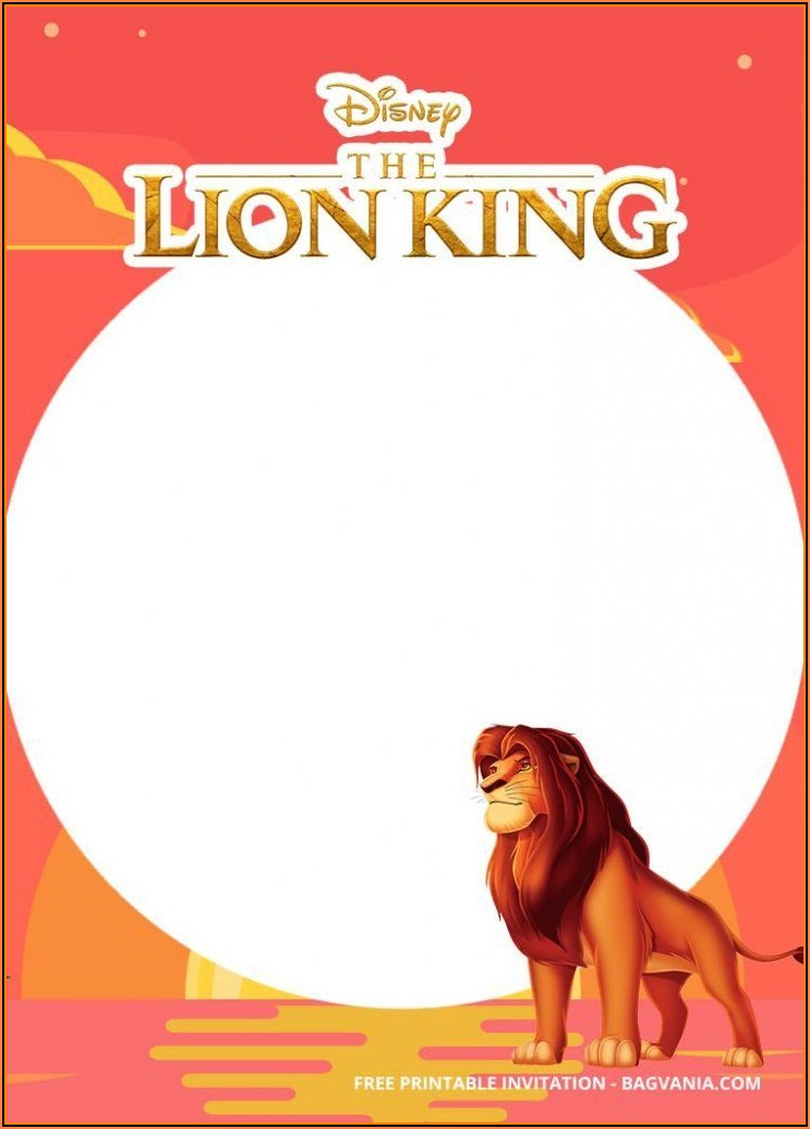 Free Printable Lion King Invitation Template Free