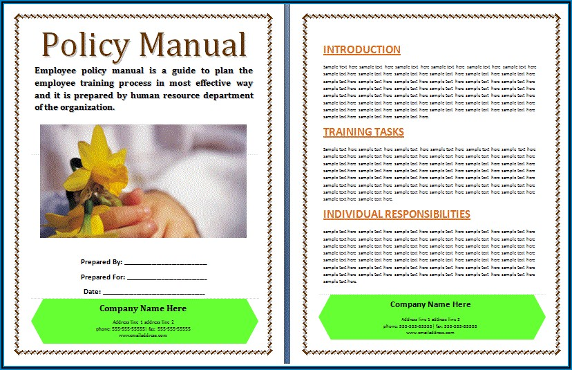 Free Printable Policy And Procedure Manual Template