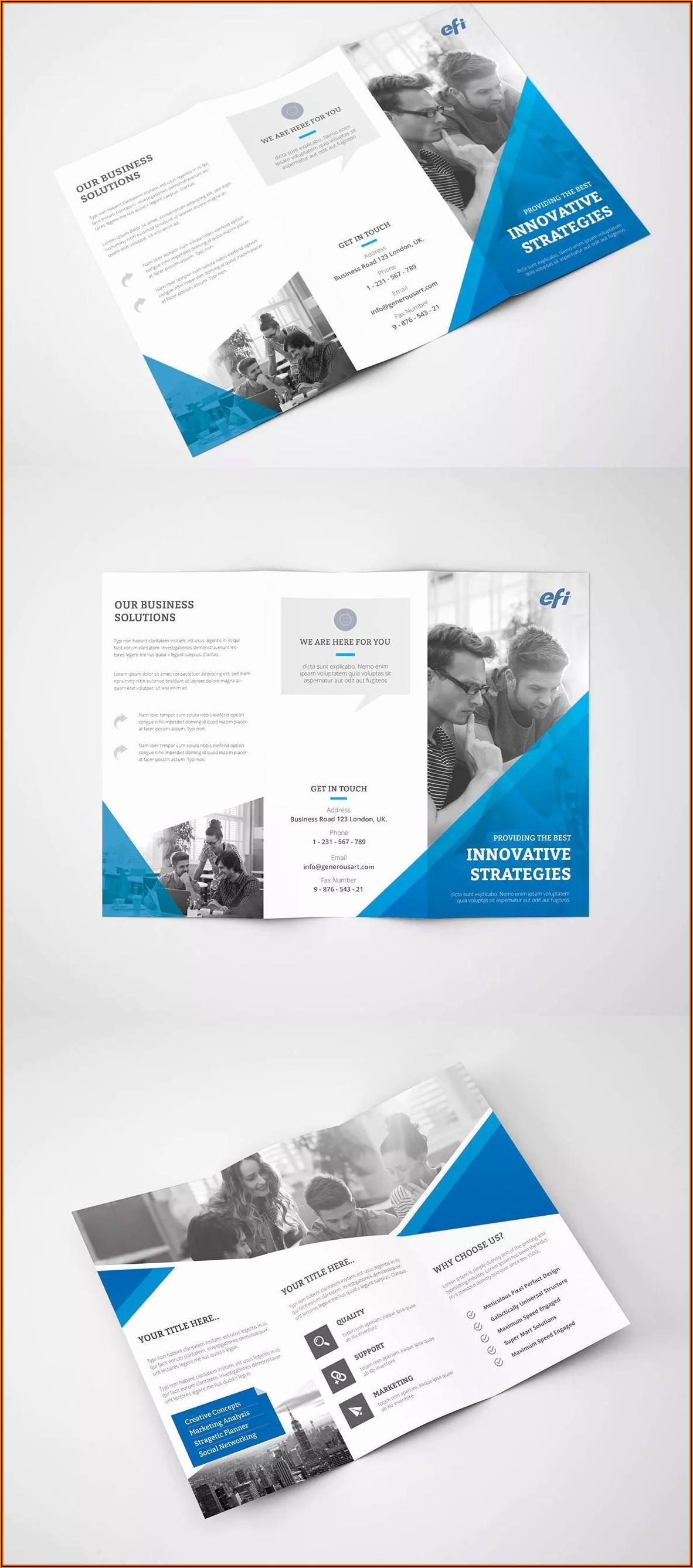 Free Printable Tri Fold Brochure Template