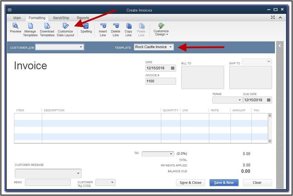 Free Quickbooks Online Invoice Templates