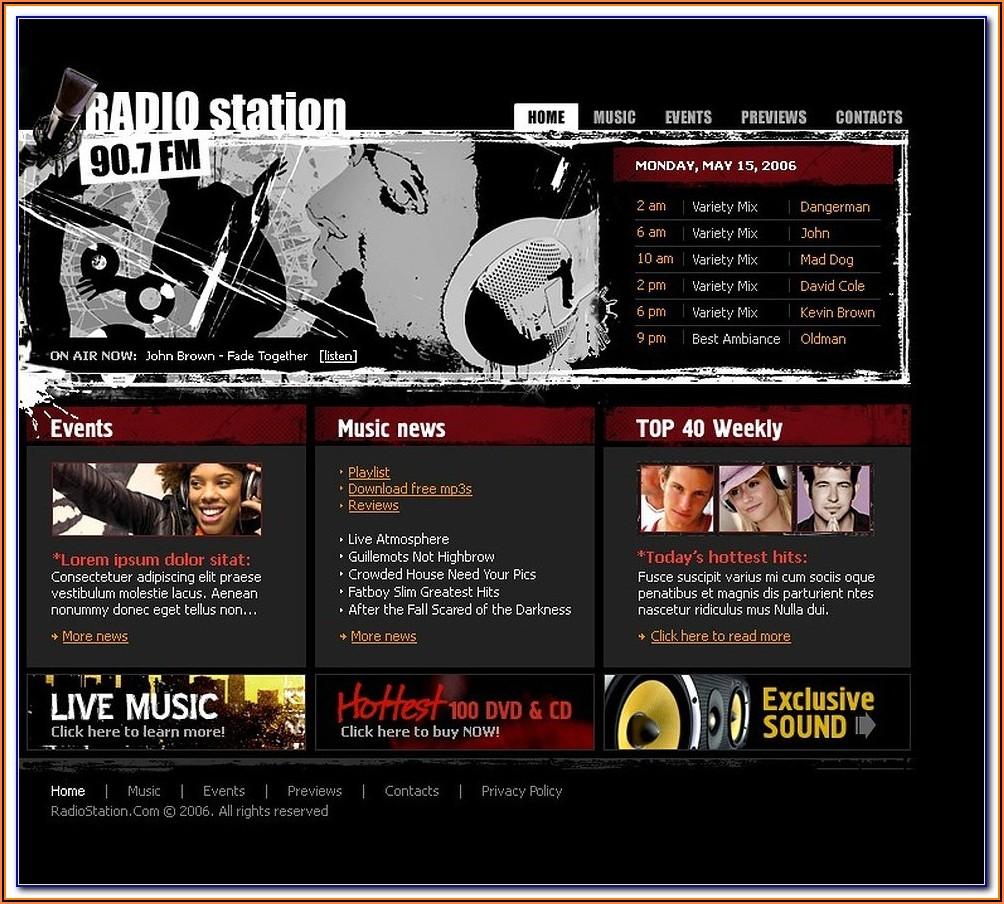 Free Radio Station Website Templates