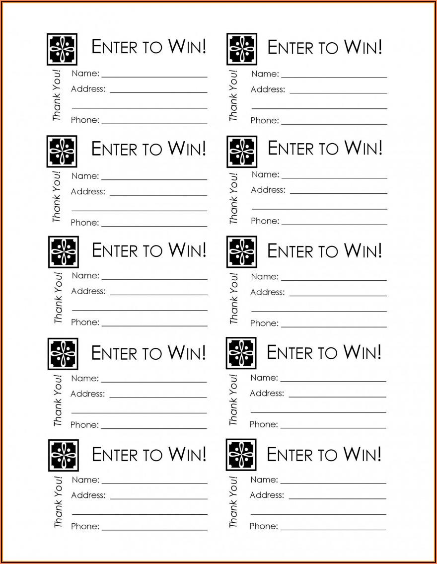 Free Raffle Ticket Templates For Microsoft Word