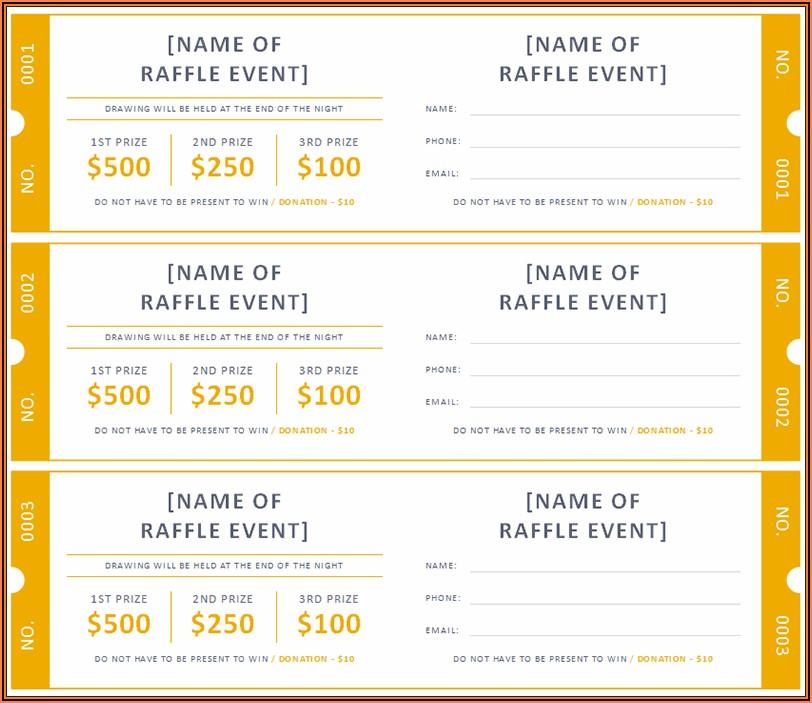 Free Raffle Tickets Templates Word