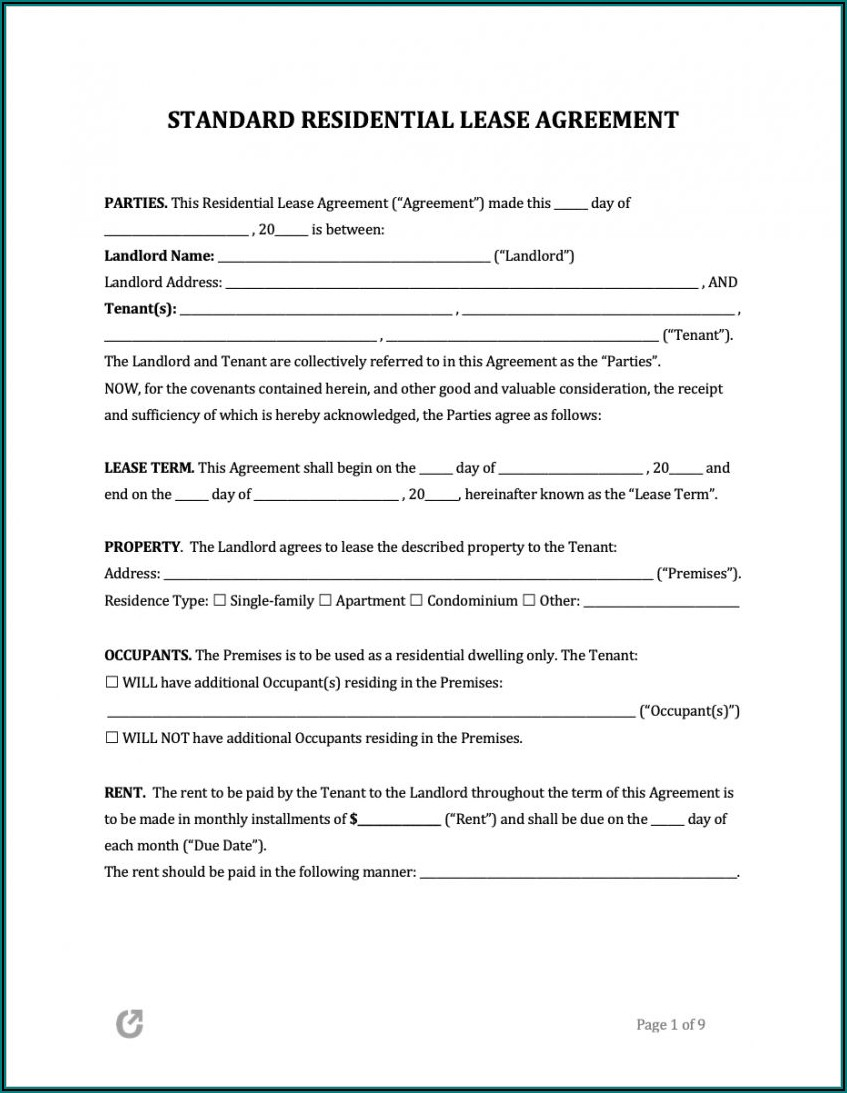 Free Sample Lease Agreement Template