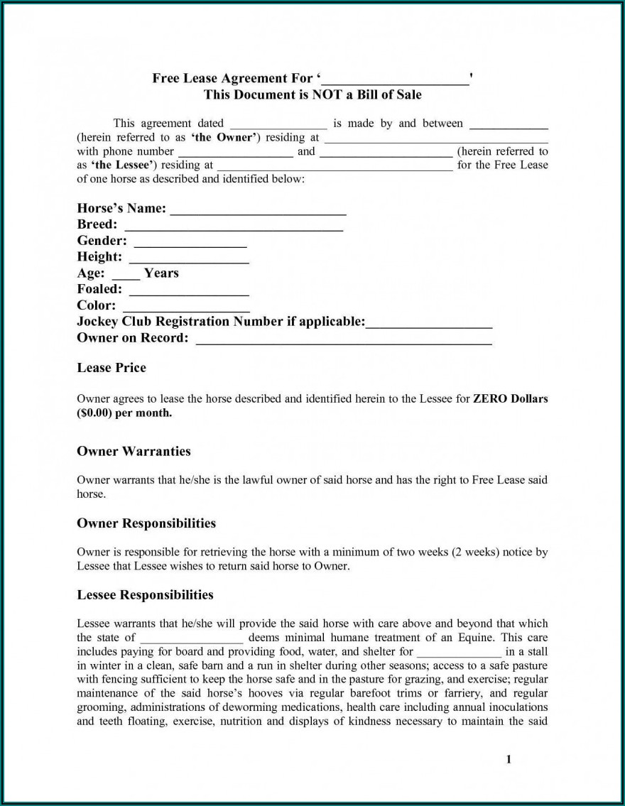Free Simple Residential Lease Agreement Template South Africa Word