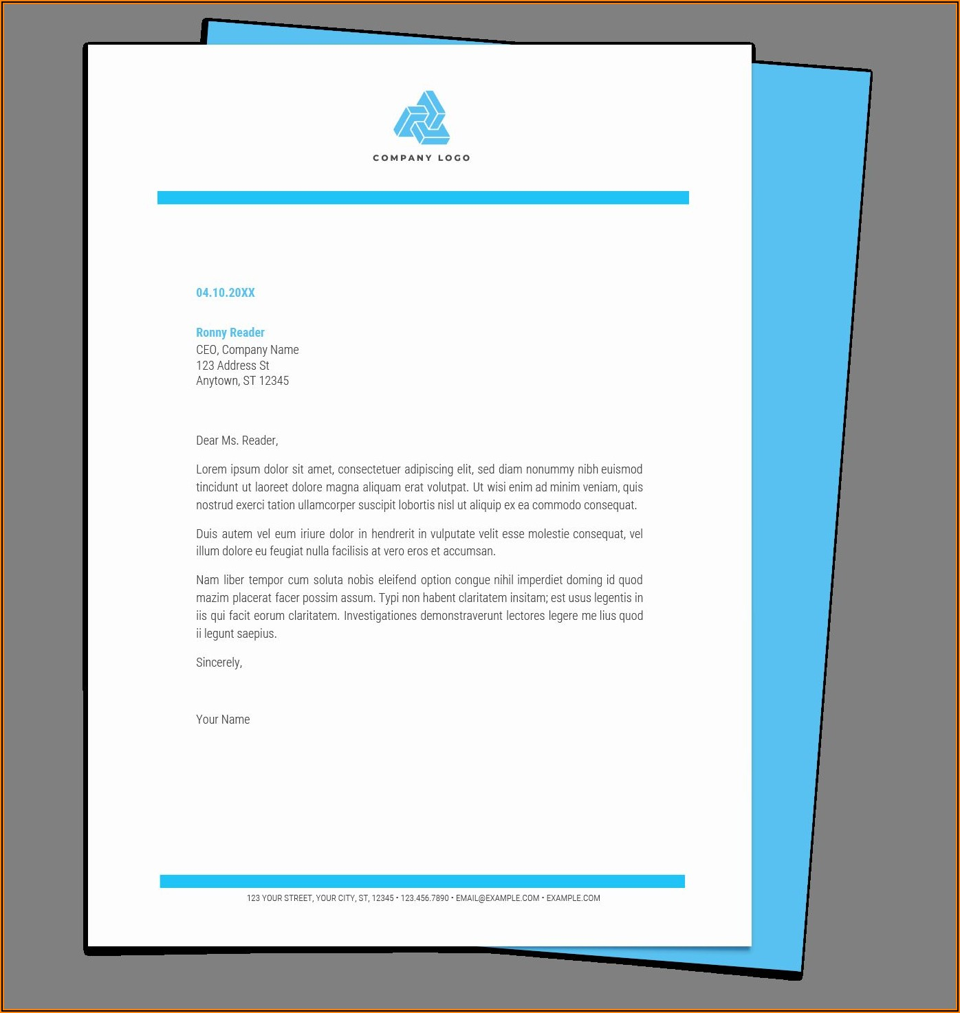 Free Templates For Letterheads Microsoft Word