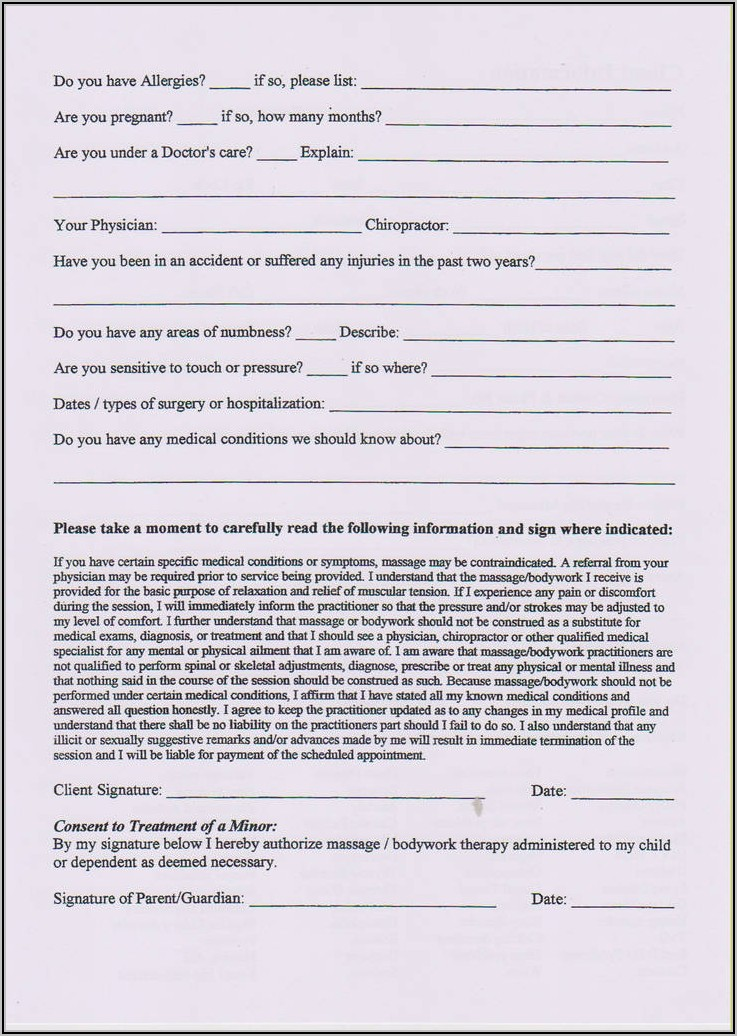 Free Therapy Intake Forms
